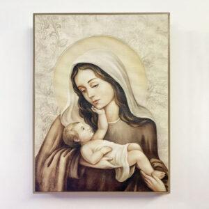 Bild – Madonna mit Kind liegend