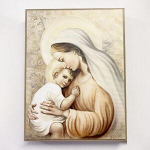 Bild – Madonna mit Kind sitzend