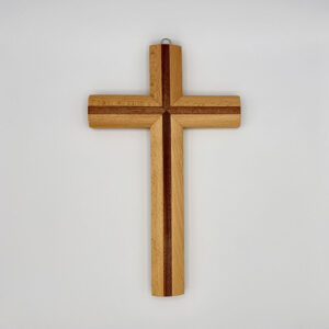 Kreuz – modern – ohne Korpus – Walnuss/Birne