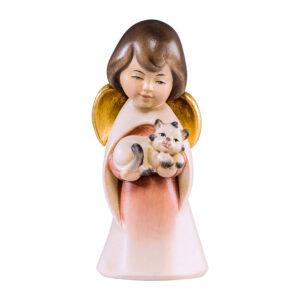 Mariazeller Traumengel mit Katze – lasiert