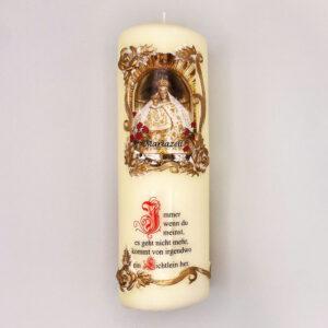 Mariazeller Zierkerze – Madonna – Spruch