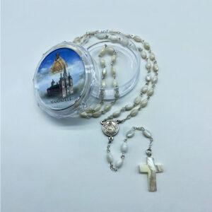 Rosenkranz – Perlmutt – oval, Perlmutt Kreuz