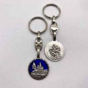 Schlüsselanhänger – Basilika/Madonna – geschliffen – blau