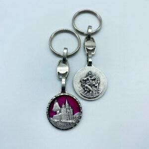 Schlüsselanhänger – Basilika/Madonna – geschliffen – rot