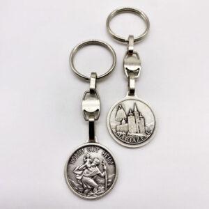 Schlüsselanhänger – Christophorus – Komm gut Heim