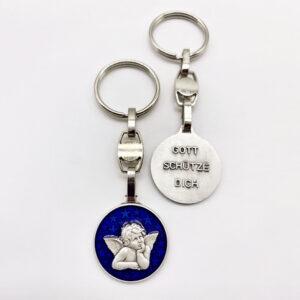 Schlüsselanhänger – Engel – blau