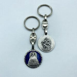 Schlüsselanhänger – Madonna Mariazell – geschliffen – blau