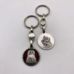 Schlüsselanhänger – Madonna Mariazell – geschliffen – rot