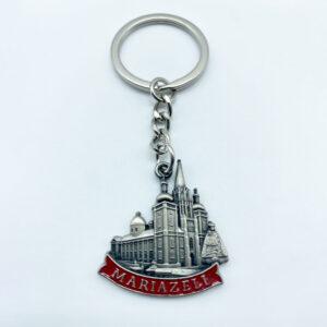 Schlüsselanhänger – Relief – Basilika/Madonna – rot